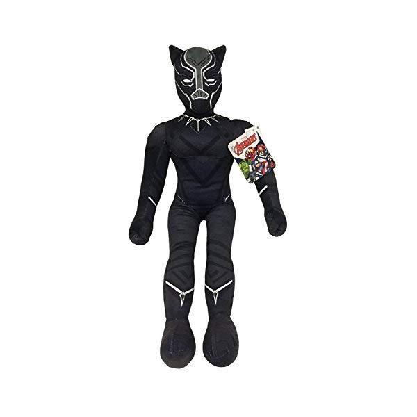 ブラックパンサー マーベル ぬいぐるみ クッション ピロー まくら 抱き枕 グッズ おもちゃ Jay Franco Marvel Black Panther Plush Stuffed Pillow Buddy Kids Super Soft Polyester Microfiber, 27 inch (Official Marvel Product)