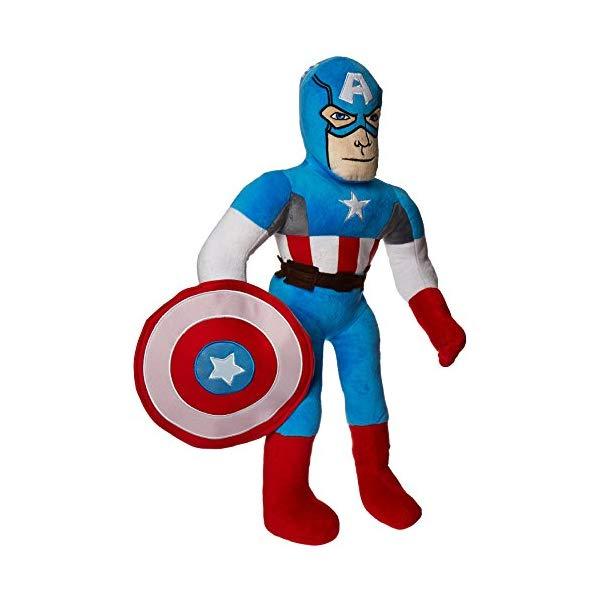 キャプテンアメリカ マーベル ぬいぐるみ クッション ピロー まくら 抱き枕 グッズ おもちゃ Jay Franco Marvel Captain America Pillow Buddy, 24 inches