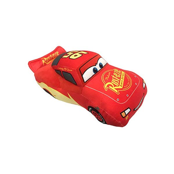 カーズ3 ライトニング マックィーン ディズニー ピクサー ぬいぐるみ クッション ピロー まくら 抱き枕 グッズ おもちゃ Disney Pixar Cars 3 Plush Stuffed Lightning Mcqueen Red Pillow Buddy Kids Super Soft Polyester Microfiber, 17 inch