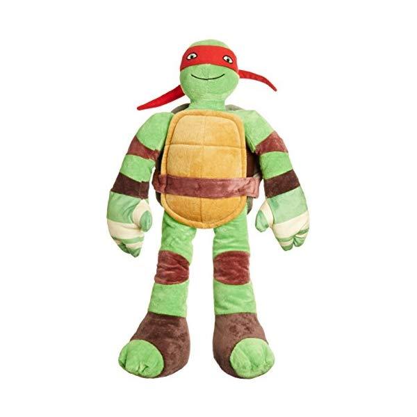 ミュータント ニンジャ タートルズ 忍者 ミケランジェロ ぬいぐるみ クッション ピロー まくら 抱き枕 グッズ おもちゃ Jay Franco Nickelodeon Teenage Mutant Ninja Turtles Raphael Pillow Buddy, (Offical Product)