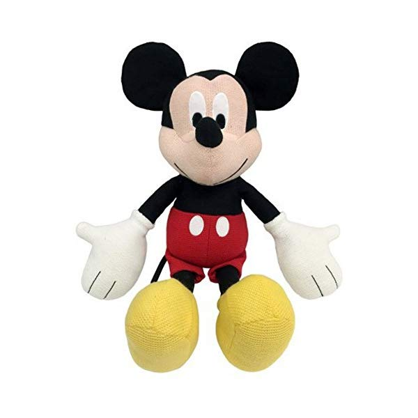 ミッキーマウス ディズニー ぬいぐるみ クッション ピロー まくら 抱き枕 グッズ おもちゃ Jay Franco Disney Mickey Mouse Classics Knit Plush Stuffed Pillow Buddy Knit Super Soft Polyester Microfiber, 20 inch (Official Disney Product)