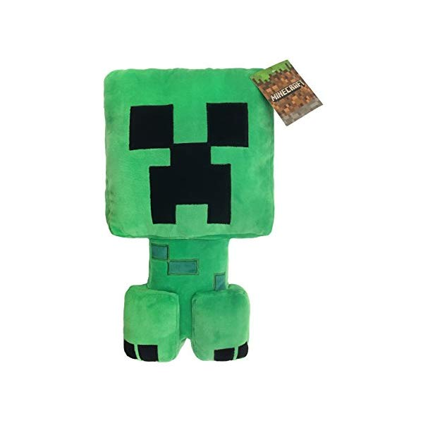 マインクラフト クリーパー ぬいぐるみ クッション ピロー まくら 抱き枕 グッズ おもちゃ Jay Franco Minecraft Plush Stuffed Creeper Pillow Buddy Super Soft Polyester Microfiber, Measures 16 inches x 8 inches (Official Minecraft Product)