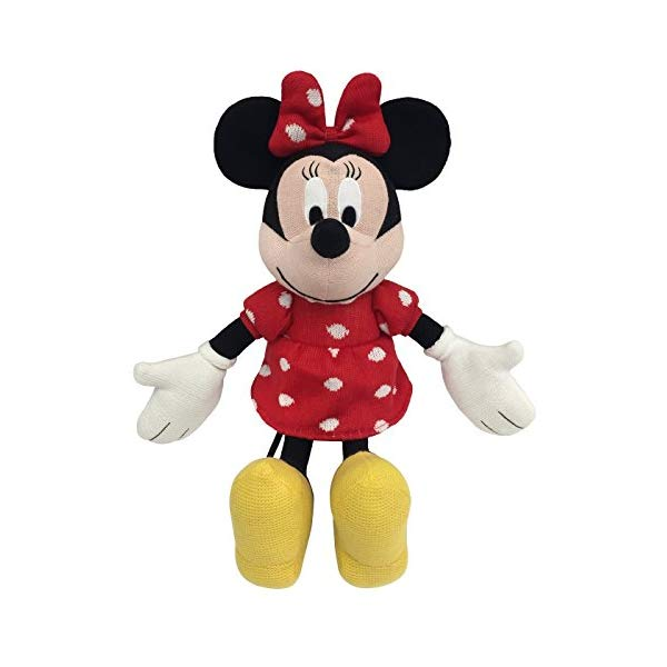 ミニー マウス ディズニー ぬいぐるみ クッション ピロー まくら 抱き枕 グッズ おもちゃ Jay Franco Disney Minnie Mouse Classics Knit Plush Stuffed Pillow Buddy Knit - Super Soft Polyester Microfiber, 21 inch (Official Disney Product)