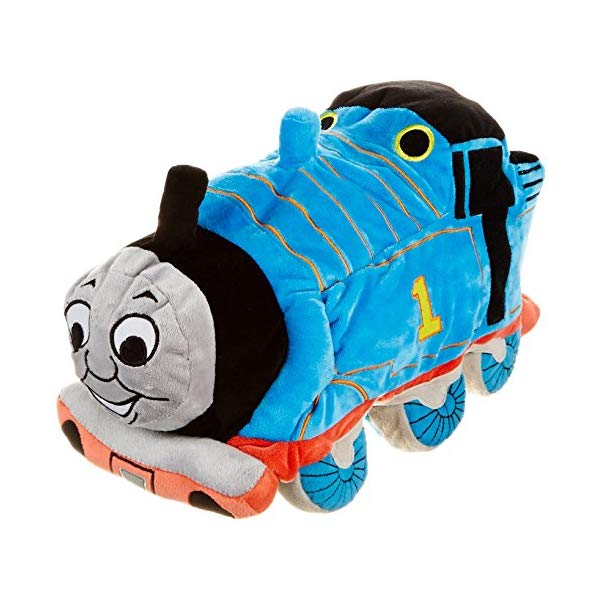 きかんしゃトーマス トーマス ぬいぐるみ クッション ピロー まくら 抱き枕 グッズ おもちゃ Jay Franco Thomas & Friends Plush Stuffed Toddler Pillow Buddy Kids Super Soft Polyester Microfiber, 15 inch (Official Mattel Product), Thomas