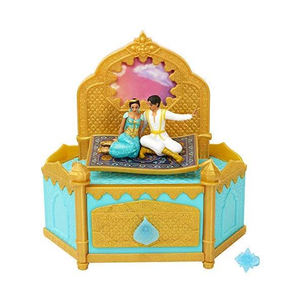 ディズニープリンセス ジャスミン アラジン ジュエリーボックス 歌う グッズ おもちゃ Aladdin Disney Musical Jewelry Box with Ring to Wear!