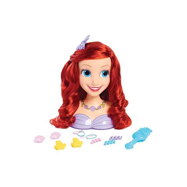 ディズニープリンセス アリエル リトルマーメイド スタイリングヘッド ヘアデザイン ヘアアレンジ 髪型 グッズ おもちゃ Just Play Princess Ariel Roleplay