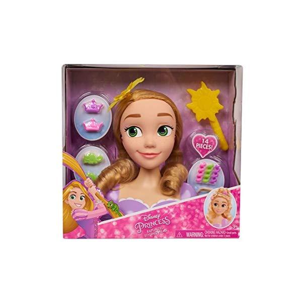 ディズニープリンセス ラプンツェル スタイリングヘッド ヘアデザイン ヘアアレンジ 髪型 グッズ おもちゃ Disney Princess Basic Rapunzel Styling Head