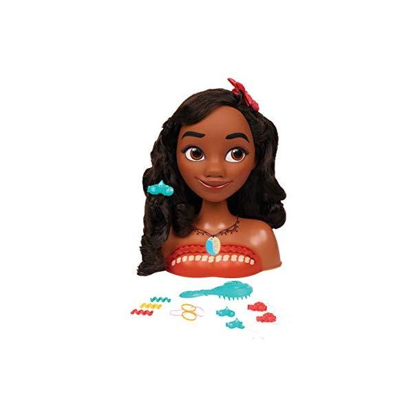 ディズニープリンセス モアナ スタイリングヘッド ヘアデザイン ヘアアレンジ 髪型 グッズ おもちゃ Disney Moana Styling Head, 14 pieces
