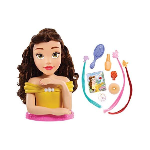 ディズニープリンセス ベル 美女と野獣 スタイリングヘッド ヘアデザイン ヘアアレンジ 髪型 ネイルアート グッズ おもちゃ Disney Princess JPL87355 Princess Deluxe Belle Styling Head, Yellow