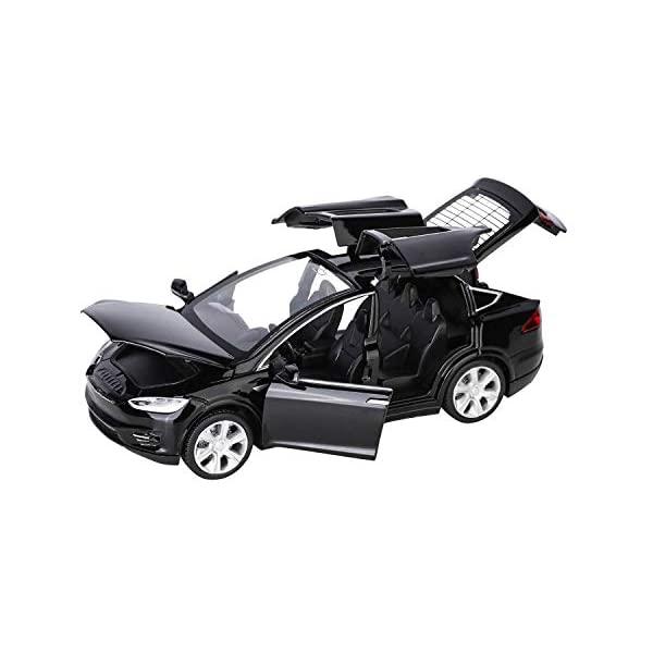テスラ モデルX モデルカー ダイキャスト 模型 ミニカー グッズ 迅速な対応で商品をお届け致します 納車祝い プレゼント インテリア スーパーカー 1:32 Scale Model X90 Diecast Car 買物 Toy Kids Alloy Music with Opening Door Lights Back and Pull Collectible Vehicle Toys For Birth