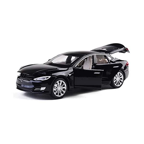 テスラ モデルS モデルカー ダイキャスト 模型 ミニカー グッズ 納車祝い プレゼント インテリア スーパーカー MiniToy Toy Car Model お得 S Alloy Black for 32 Toddlers Back 1 Pull Toys Vehicles 新作製品、世界最高品質人気! Cars Scale Kids