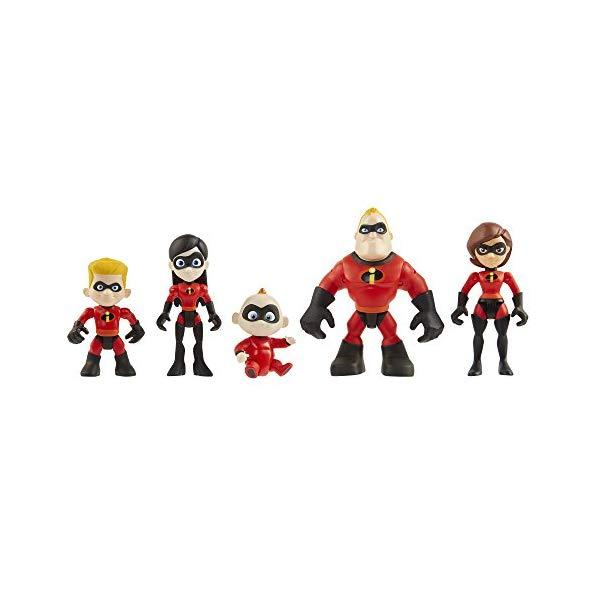 インクレディブル・ファミリー グッズ ミスターインクレディブル フィギュア 人形 おもちゃ The Incredibles 2 Family 5-Pack Junior Supers Action Figures, Approximately 3