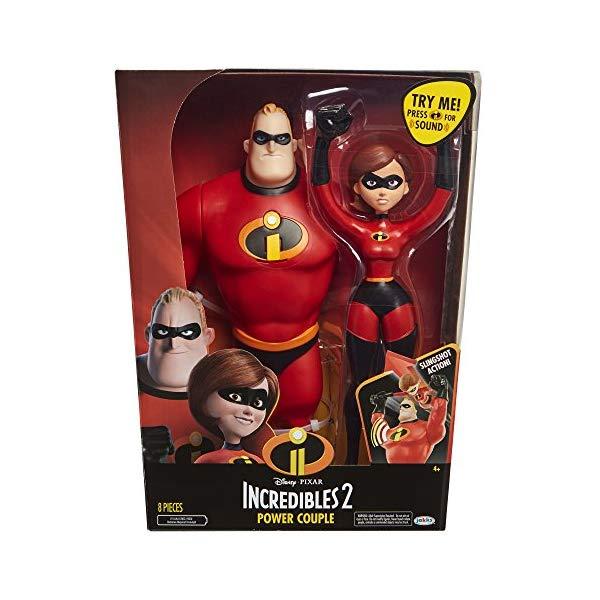インクレディブル・ファミリー グッズ ミスターインクレディブル イラスティガール フィギュア 人形 おもちゃ The Incredibles 2 Power Couple 12