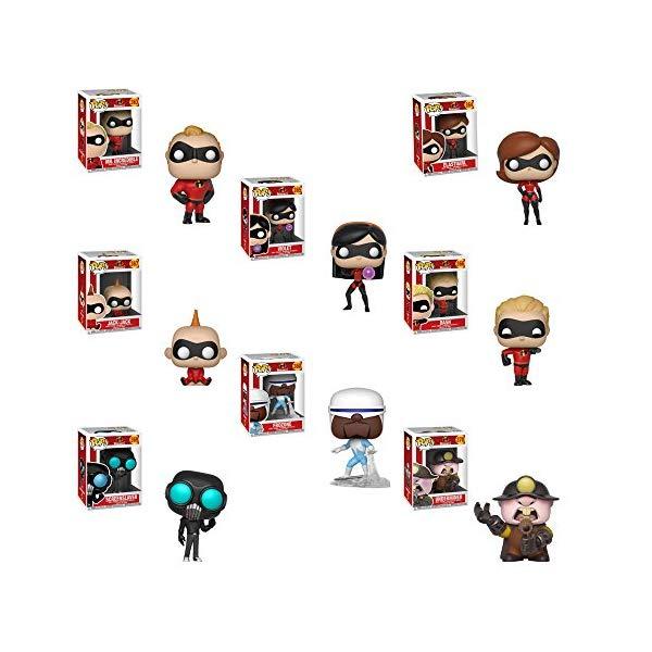 インクレディブル・ファミリー グッズ ミスターインクレディブル フィギュア 人形 おもちゃ Funko Pop! Movies Bundle Collectors Set of 8: Incredibles 2 - Mr Incredible, Elastigirl, Violet, Dash, Jack-Jack, Frozone, Screenslaver and Underminer