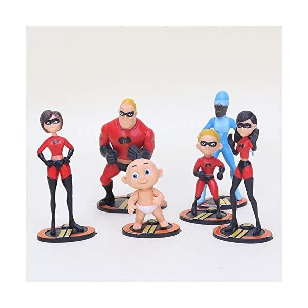 インクレディブル・ファミリー グッズ ミスターインクレディブル フィギュア 人形 おもちゃ PAPWELL Mr Incredible Action Figure Family 6-Pack Junior Supers Action Figures