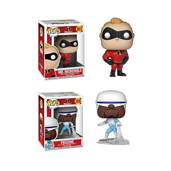 インクレディブル・ファミリー グッズ ミスターインクレディブル フロゾン フィギュア 人形 おもちゃ Funko POP! Incredibles 2: Mr Incredible + Frozone – Stylized Disney Pixar Vinyl 2 Figure Bundle Set NEW