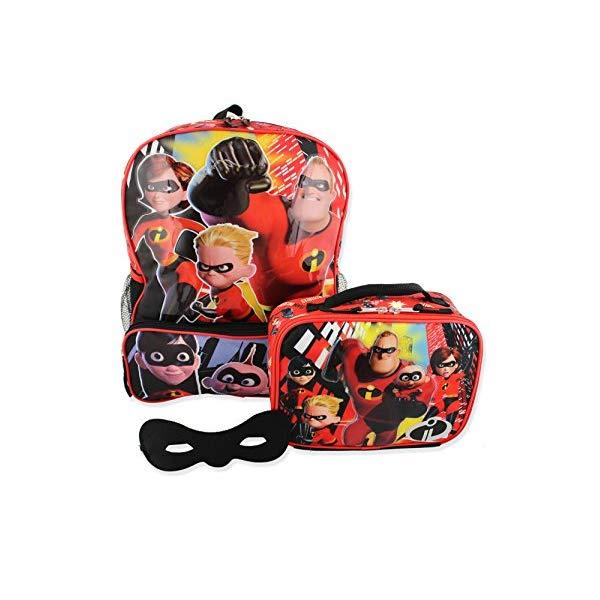 インクレディブル・ファミリー グッズ ミスターインクレディブル バックパック リュック バッグ カバン 鞄 The Incredibles 2 Kids Backpack and Lunch Box School Set with Eye Mask