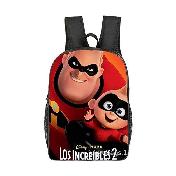 インクレディブル・ファミリー グッズ ミスターインクレディブル バックパック リュック バッグ カバン 鞄 YOURNELO Kid's Cartoon The Incredibles Color Printed Backpack Schoolbag