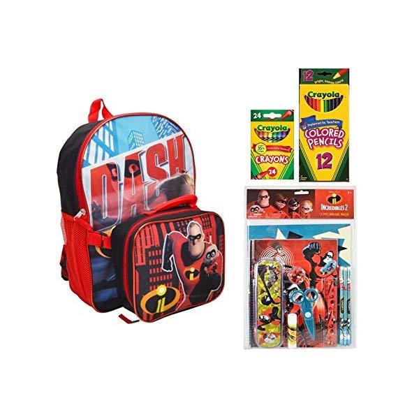 インクレディブル・ファミリー グッズ ミスターインクレディブル バックパック リュック バッグ カバン 鞄 Disney Incredibles 2 Backpack With Detachable Lunch Bag and Back-To-School Supplies
