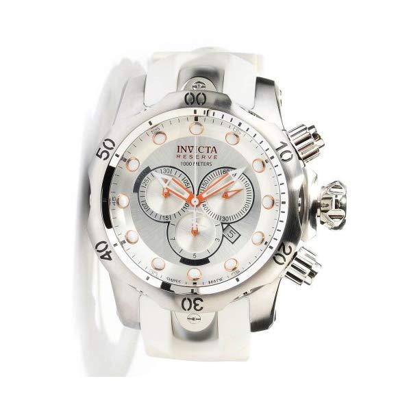 インヴィクタ インビクタ メンズ 腕時計 男性用 Invicta Venom Silver Dial Chronograph White Rubber Mens Watch 11852