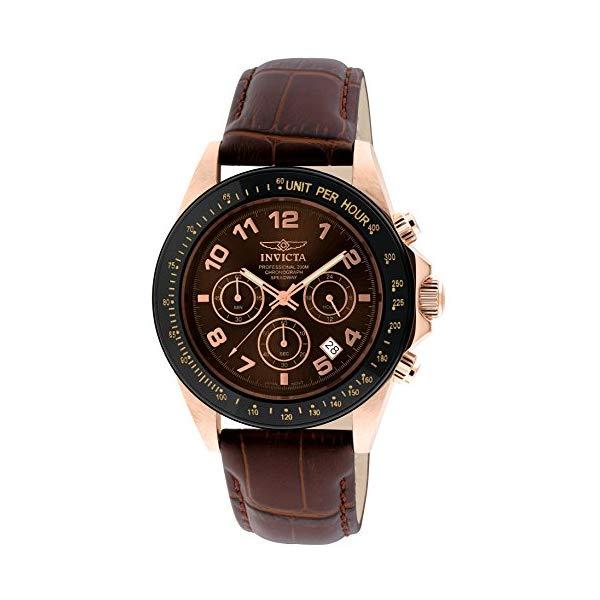 インビクタ 腕時計 INVICTA インヴィクタ 時計 スピードウェイ Invicta Men's 10712 Speedway Gold Ion-Plated Stainless Steel Watch with Leather Band