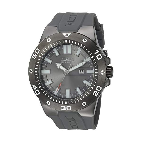 インビクタ 腕時計 INVICTA インヴィクタ 時計 プロダイバー Invicta Men's 'Pro Diver' Quartz Stainless Steel and Polyurethane Casual Watch, Color:Grey (Model: 23512)