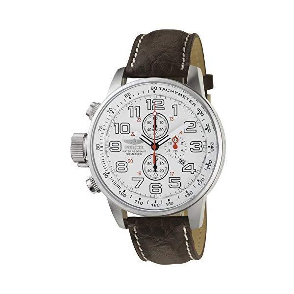 """インビクタ 腕時計 INVICTA インヴィクタ 時計 フォース Invicta Men""""s 2771 """"""""Force Collection"""""""" Stainless Steel Left-Handed Watch with Brown Leather Band"""