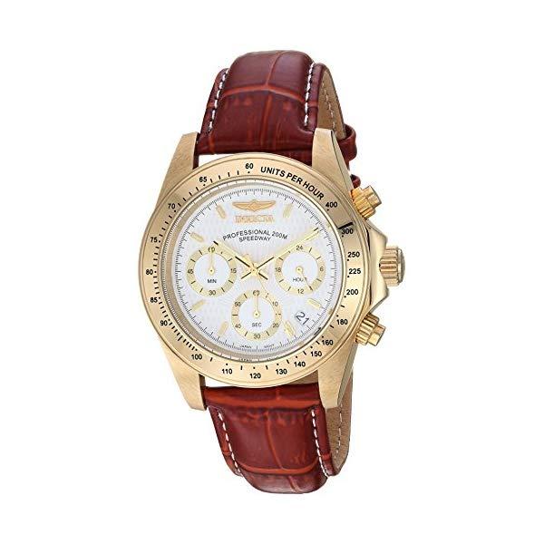 """インビクタ 腕時計 INVICTA インヴィクタ 時計 スピードウェイ Invicta Men""""s 7032 Signature Collection Speedway Gold-Tone Chronograph Watch"""