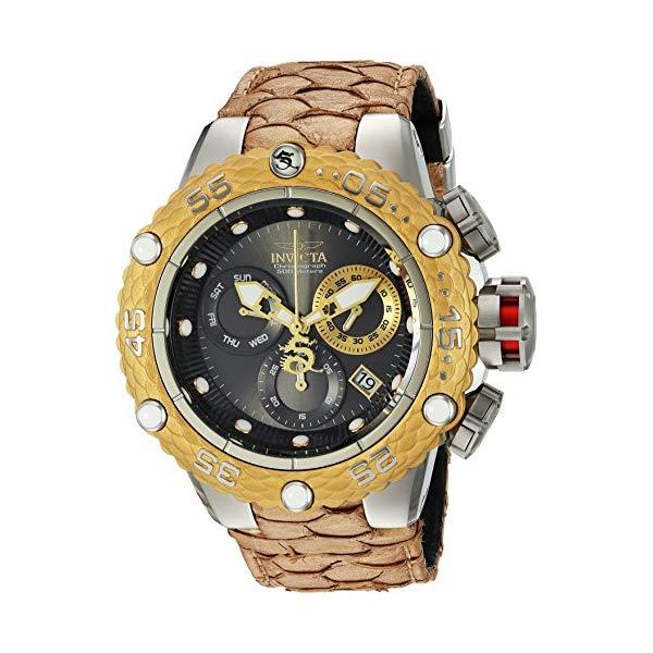 世界の インビクタ 腕時計 INVICTA インヴィクタ 時計 サブアクア Invicta Men's 'Subaqua' Quartz Stainless Steel and Leather Casual Watch, Color:Gold-Toned (Model: 25067), 玖珂郡 41f3a07c