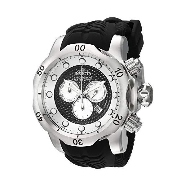 インビクタ 腕時計 INVICTA インヴィクタ 時計 ベノム Invicta Men's 'Venom' Quartz Stainless Steel and Silicone Casual Watch, Color:Black (Model: 20439)
