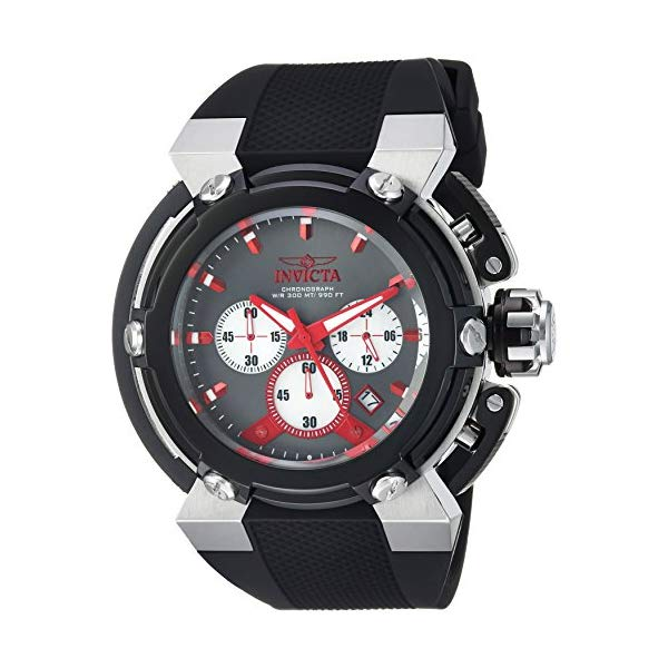 インビクタ 腕時計 INVICTA インヴィクタ 時計 フォース Invicta Men's 'Coalition Forces' Quartz Stainless Steel and Silicone Casual Watch, Color:Black (Model: 22442)