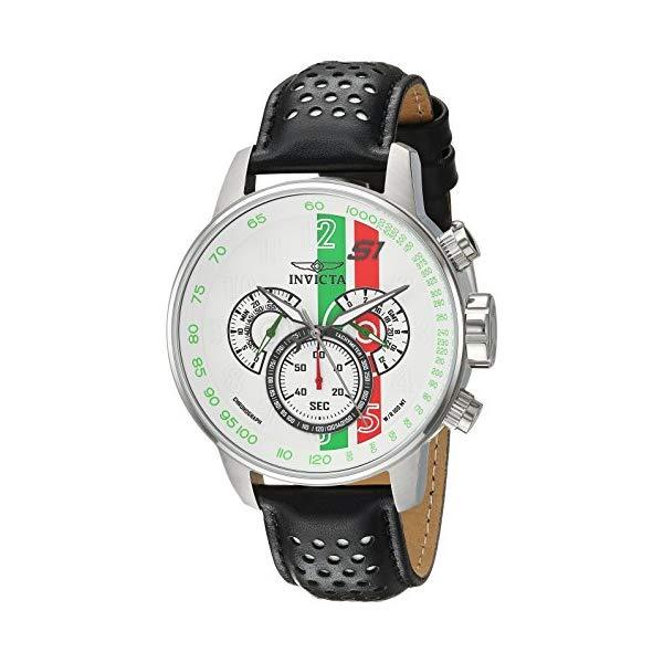インビクタ 腕時計 INVICTA インヴィクタ 時計 エスワン ラリーInvicta Men's 'S1 Rally' Quartz Stainless Steel and Leather Casual Watch, Color:Black (Model: 90106)