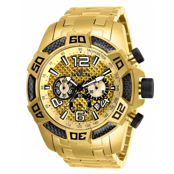 インビクタ 腕時計 INVICTA インヴィクタ 時計 プロダイバー 25854 - INVICTA Pro Diver Men 50mm Stainless Steel Gold Gold dial VD53 Quartz Watch