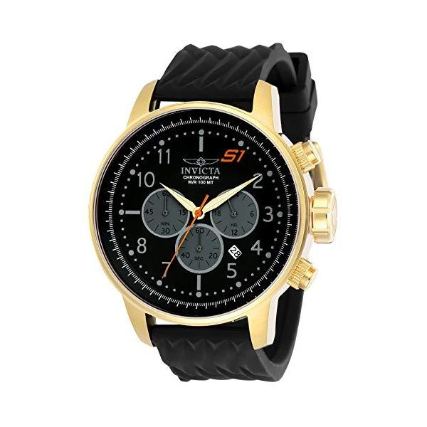 インビクタ 腕時計 INVICTA インヴィクタ 時計 エスワン ラリーInvicta Men's 'S1 Rally' Quartz Gold-Tone and Silicone Casual Watch, Color Black (Model: 23816)