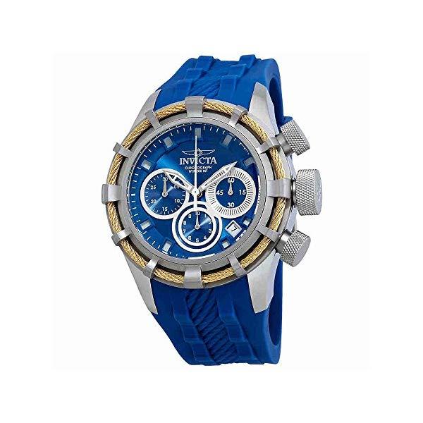 インビクタ 腕時計 INVICTA インヴィクタ 時計 ボルト Invicta Men's 22153 Bolt Quartz Chronograph Blue Polyurethane Dial Watch