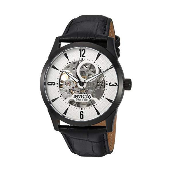 インビクタ 腕時計 INVICTA インヴィクタ 時計 オブジェ D アート Invicta Men's 'Objet d'Art' Automatic Stainless Steel and Leather Casual Watch, Color:Black (Model: 22639)