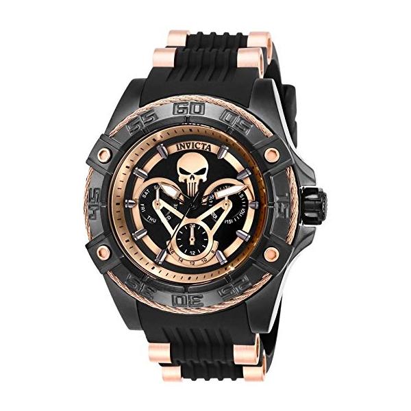 インビクタ 腕時計 INVICTA インヴィクタ 時計 マーベル パニッシャー Invicta Women's 27035 Marvel Quartz Multifunction Black, Rose Gold Dial Watch