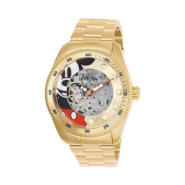 インビクタ 腕時計 INVICTA インヴィクタ 時計 ディズニー ミッキーマウス Invicta Men's 'Disney Limited Edition' Automatic Stainless Steel Casual Watch, Color:Gold-Toned (Model: 25451)