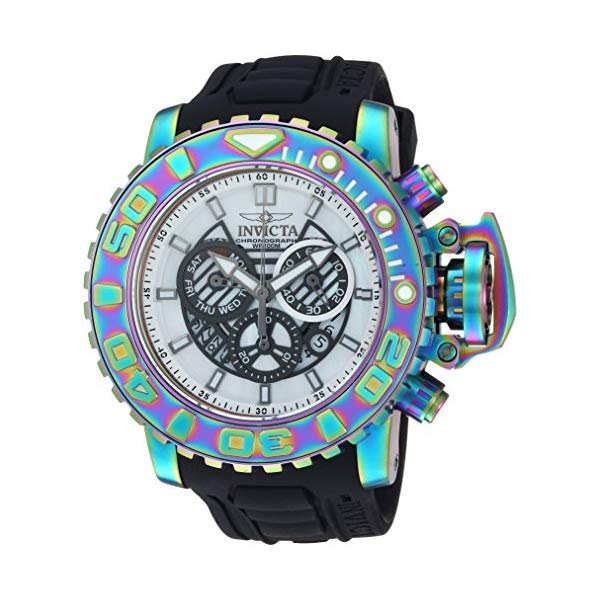 インビクタ 腕時計 INVICTA インヴィクタ 時計 シーハンター Invicta Men's 'Sea Hunter' Quartz Stainless Steel and Silicone Watch, Color Black (Model: 26415)