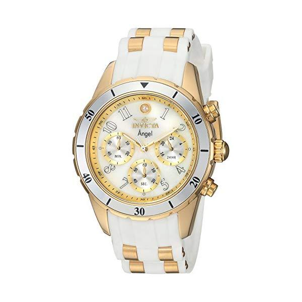 インビクタ 腕時計 エンジェル INVICTA インヴィクタ 時計 レディース 女性用 Invicta Women's 'Angel' Quartz Stainless Steel and Silicone Casual Watch, Color:White (Model: 24901)