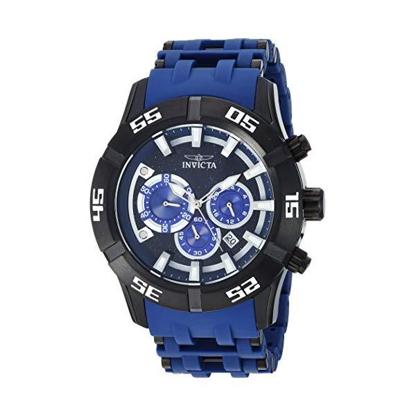 インビクタ 腕時計 INVICTA インヴィクタ 時計 シースパイダー Invicta Men's 'Sea Spider' Quartz Stainless Steel and Polyurethane Casual Watch, Color Blue (Model: 26533)