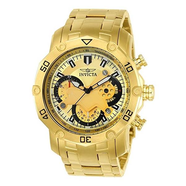 インビクタ 腕時計 INVICTA インヴィクタ 時計 プロダイバー Invicta Men's 'Pro Diver' Quartz and Stainless Steel Casual Watch, Color:Gold-Toned (Model: 22761)