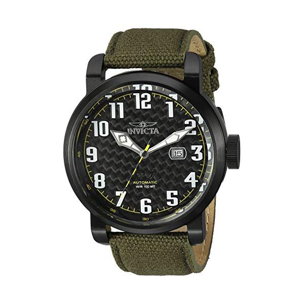 インビクタ 腕時計 INVICTA インヴィクタ 時計 アビエーター Invicta Men's 'Aviator' Japanese Automatic Stainless Steel and Silicone Casual Watch, Color:Green (Model: 23075)