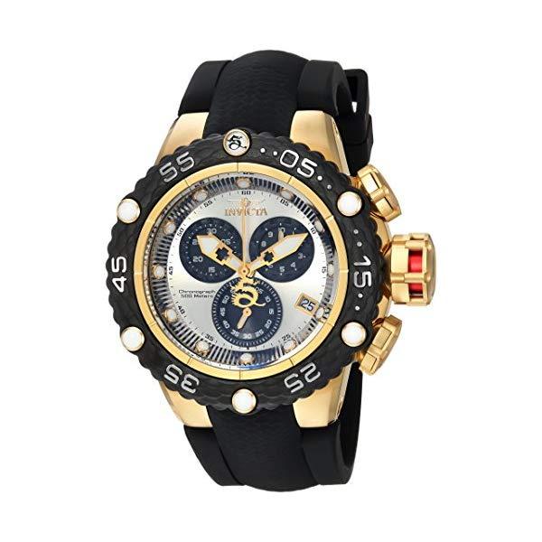 インビクタ 腕時計 INVICTA インヴィクタ 時計 サブアクア Invicta Men's 'Subaqua' Quartz Stainless Steel and Silicone Casual Watch, Color Black (Model: 24445)
