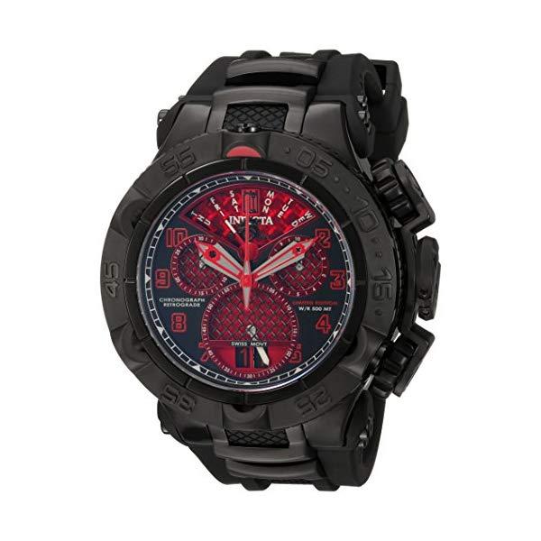 インビクタ 腕時計 INVICTA インヴィクタ 時計 ジェイソン テイラー Invicta Men's 'Jason Taylor' Swiss Quartz Stainless Steel and Polyurethane Casual Watch, Color:Black (Model: 22285BWB)