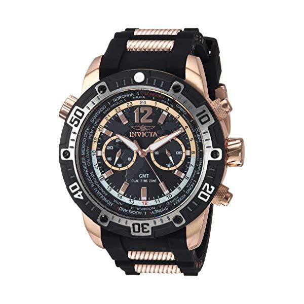 インビクタ 腕時計 INVICTA インヴィクタ 時計 アビエーター Invicta Men's 'Aviator' Quartz Silver and Silicone Casual Watch, Color Two Tone (Model: 24582)