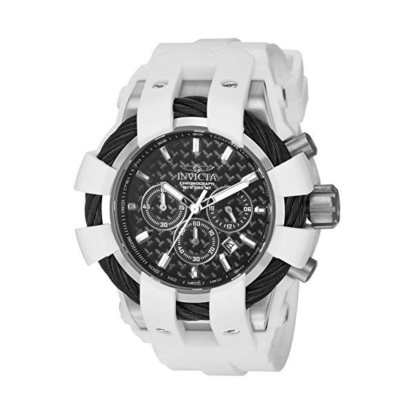 インビクタ 腕時計 INVICTA インヴィクタ 時計 ボルト Invicta Men's 'Bolt' Quartz Stainless Steel and Silicone Casual Watch, Color:White (Model: 23856)