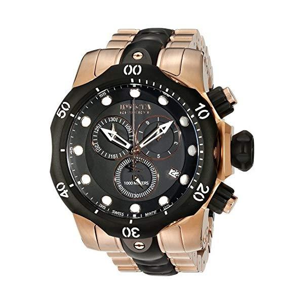 インビクタ 腕時計 INVICTA インヴィクタ 時計 リザーブ Invicta Men's 5728 最安値 Reserve Gold-Tone Watch Ion-Plated Collection Black 受注生産品 Rose and Chronograph
