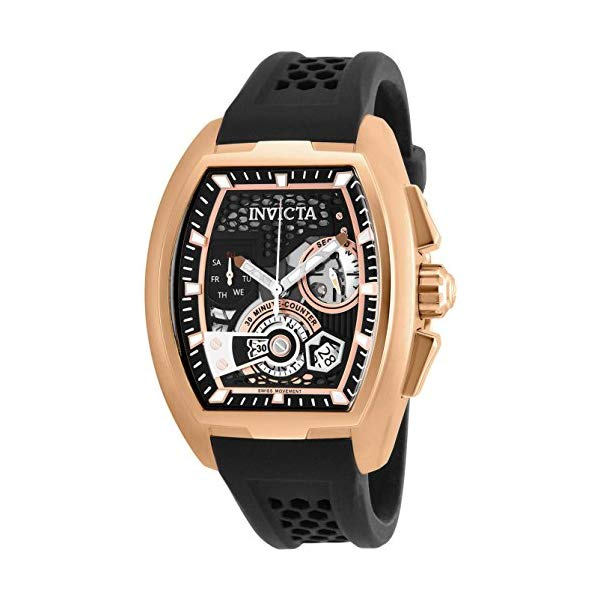 インビクタ 腕時計 INVICTA インヴィクタ 時計 エスワン ラリー Invicta Men's 26400 S1 Rally Quartz Multifunction Black, Rose Gold Dial Watch