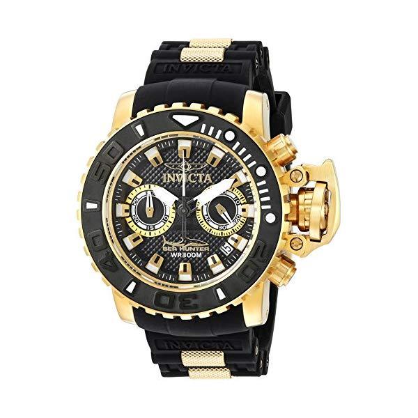 インビクタ 腕時計 INVICTA インヴィクタ 時計 シーハンター Invicta Men's 'Sea Hunter' Swiss Quartz Stainless Steel and Silicone Casual Watch, Color:Black (Model: 20475)